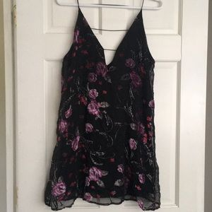 Wild Pearl Floral Shift Dress Sz XS
